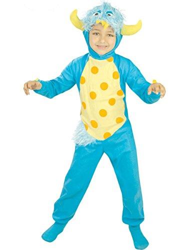 Guirca Déguisement de Petit Monstre Bleu pour garçon de 5 à 6 Ans