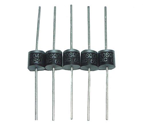 ショットキー バリア ダイオード 45V 20A 5本セット 整流 逆流防止 高速スッチング 用途に 規格データーシート付 (20A)