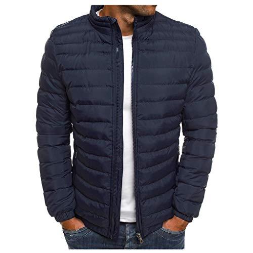 RANTA Herren Leichter Steppjacke Warm Halten Super Dünn Daunenjacke Basic Down Jacke geeignet für den Winter.(Dieser Preis Gilt für Zwei Sätze), Schwarz, 4XL