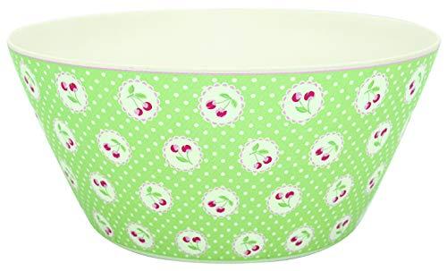 GreenGate BAMBOWLCHB3904 Cherry Berry Bowl Pale Green Large 25,5 cm (1 Sück)