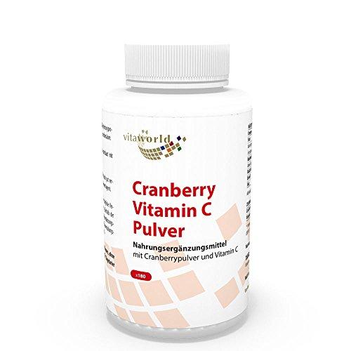 Arándano Rojo 400mg + Vitamina C 180 Cápsulas Vegetales - Vita World Farmacia Alemania