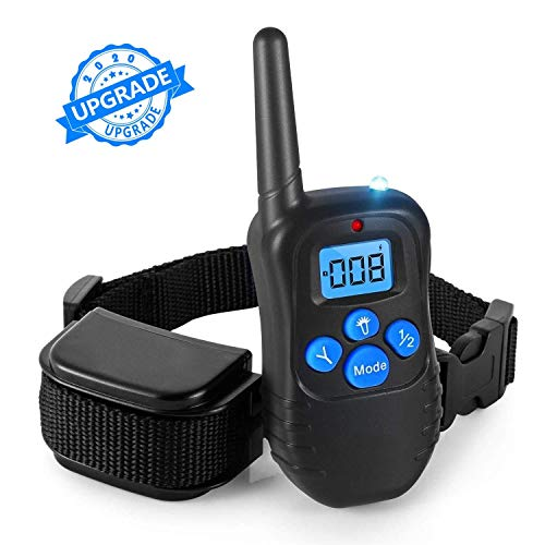 Zoohao Dog Training Collar,Full Waterproof Rechargeable Dog Training Collar with Remote, 3 Modes-Vibration, Shock, Tone,for Small Medium Large Dogs