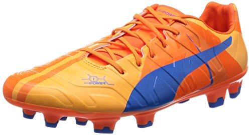 Puma Evopower 1 H2H FG 'Head To Head' Fussballschuhe Tricks Graphic Kollektion, Blau/Orange, UK 7.5 | EUR 41 | US 8.5 | CM 26.5