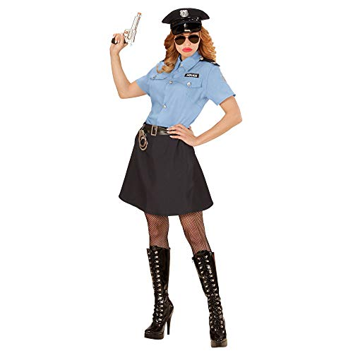Widmann 04013 - Kostüm Polizistin, Bluse, Rock, Gürtel, Hut, Gesetzeshüterin, Streifenpolizistin, Mottoparty, Karneval