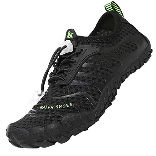 Rokiemen Zapatos de Agua Niños Antideslizante Secado Rápido Zapatillas de Playa de Verano Deportes Acuáticos Escarpines Buceo Natación Snorkel Surfeando Gr 29-38