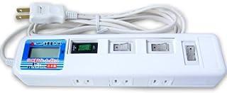 消費電力メーター付 4個口テーブルタップ 安心の国内製造品 JH-M504W