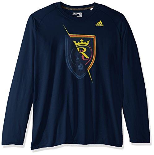 adidas Uncovered tee Camiseta Climalite Ultimate L/S Descubierto, Hombre, Azul Marino, L