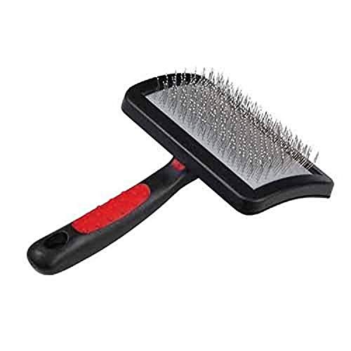 Paw Brothers Stainless Steel Universal Type Slicker Large with Coated Pin Tips for Professional Grooming