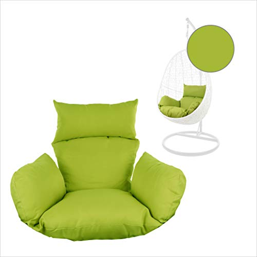Kideo® Sitzkissen für Hängesessel, Swing Chair Kissen, Ersatzkissen, Wechselkissen, waschbar, 2-teilig, grün (Nest, 6068 Apple Green)