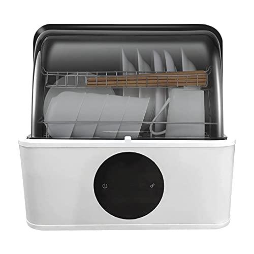 ELXSZJ XTZJ Encimera de lavavajillas portátil, lavavajillas compactas, 6 programas de Lavado, Almacenamiento en Aire Caliente