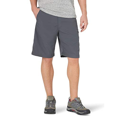 Wrangler Authentics Men's Performance Side Elastic Utility Short, Carbonite, 34