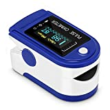 Oxímetro de pulso, monitor de oxígeno Monitor de ritmo cardíaco de dedo...