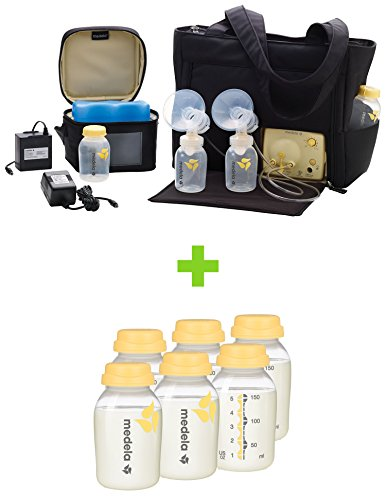 Medela Pump in Style Advanced Breast Pump with On the Go Tote with TEN Breast Milk Collection and Storage Bottles, 5 Ounce by Medela