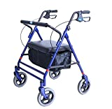 Invacare Bariatric Rollator, 500 lb. Weight Capacity, Flip-Up Padded Seat, 66550