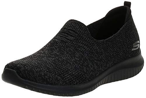 Skechers Ultra Flex-Harmonious, Zapatillas sin Cordones Mujer, Negro (BBK Black Mesh/Trim), 38 EU