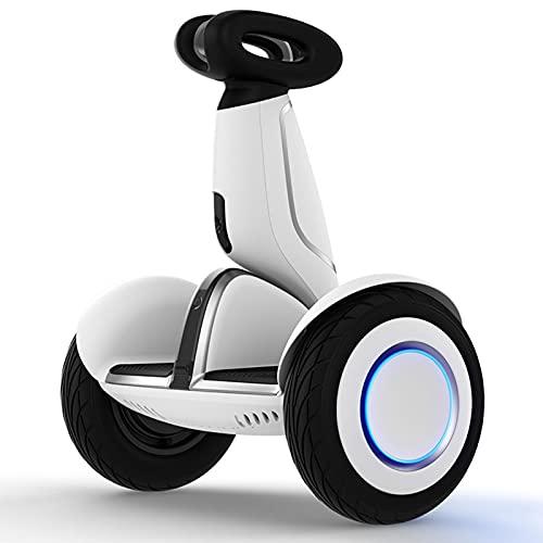 Scooter Eléctrico Inteligente de Autoequilibrio con Control Remoto con Luz LED, Portátil y Potente, Neumáticos Antideslizantes Blancos para Niños Adultos