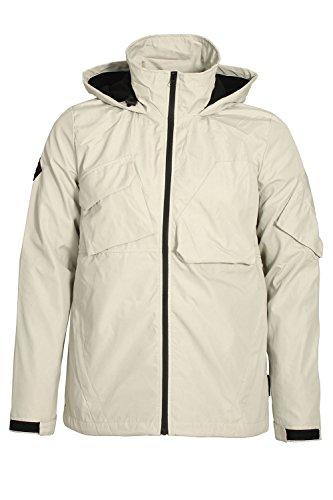 Bellfield Gamma Hooded Tech Jacket | Bone XLarge 42