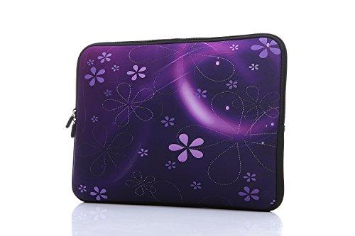 11.6-Inch to 12-Inch Neoprene Laptop Sleeve Case Bag with Hidden Handles for 11', 11.6', 12', 12.5' Women MacBook/Tablet/Notebook/Ultrabook/Chromebook (Purple)