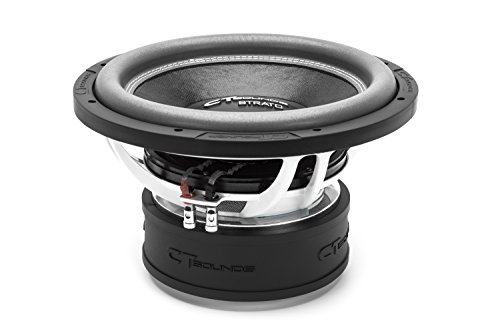 CT SOUNDS 12 Inch Car Subwoofer - 3' Voice Coil, Dual 2 Ohm Impedance, 2400W Peak Power with Rubber Suspension, Versatile & Powerful Base Woofer for Vehicle Stereo - Strato 12 D2