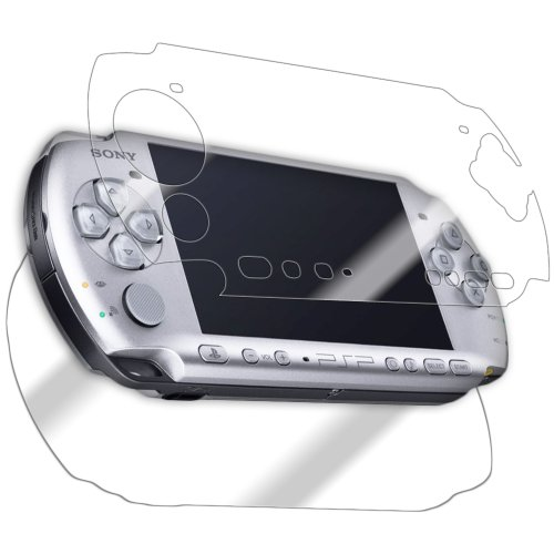 IQ Shield Full Body Skin Compatible with Sony PSP 3000 + LiQuidSkin Clear (Full Coverage) Screen Protector HD and Anti-Bubble Film