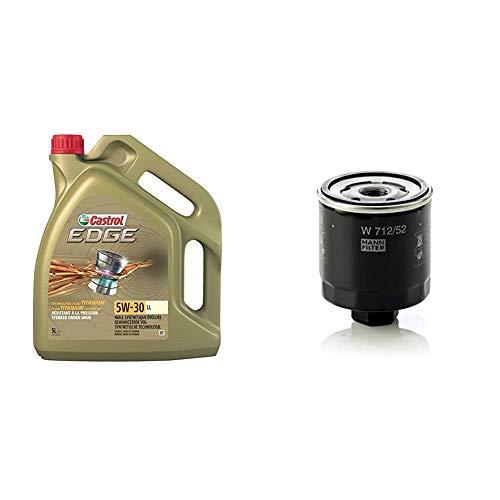 Castrol Edge 5W-30 LL Motorenöl 5L + Mann Filter Ölfilter W 712/52 - Für PKW