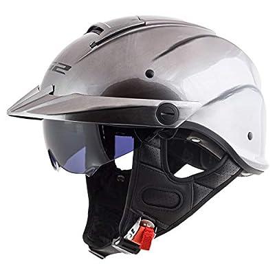 LS2 Helmets Rebellion Motorcycle Half Helmet (Brushed Alloy - Large) from LS2 Helmets