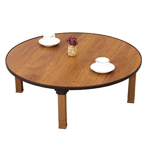 Klapptisch, Zuhause, Koreanischer Esstisch/Runder Tisch/Kang Tabelle/Niedriger Tisch/Studientisch, Geeignet Für Tatami/Bay-Fenster/Tee-Haus (Size : 70cm)