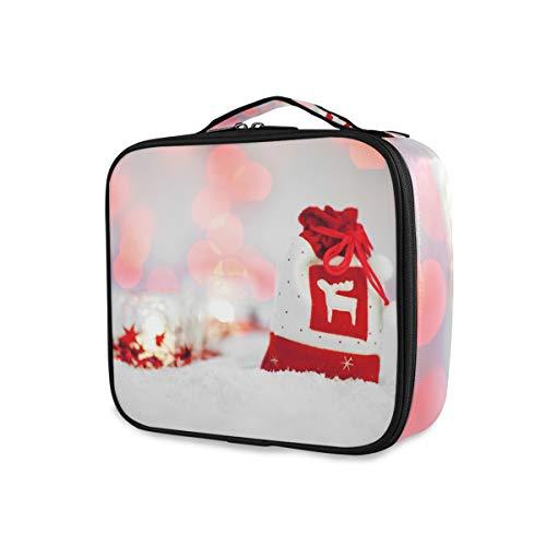 Pochette cadeau boîte à cosmétiques portable pour femmes fille personnalité maquillage professionnel sac multifonctions avec compartiments réglables