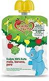 Cuore Di Frutta Frullato Di Frutta Bio Mela Banana e Pera - Confezioni Da 90 Gr, 12 Unità...