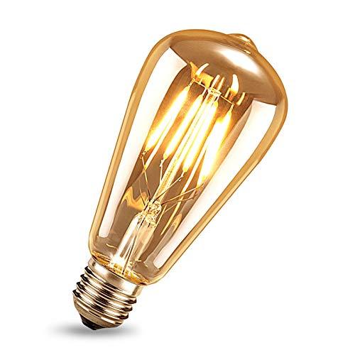 Edison Vintage Glühbirne, Samione Warmweiß E27 LED Lampe Retro Glühbirne Antike Beleuchtung Ideal für Retro Beleuchtung im Haus Café Bar Restaurant usw 1 Stück [Energieklasse Energieklasse A++]