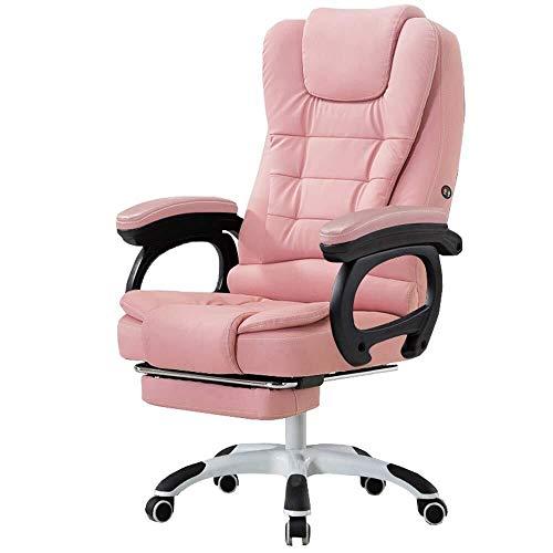 XKKD Silla Racing Gaming Chair Giratoria Ejecutiva Respaldo Alto con Reposapiernas Extendido Y...