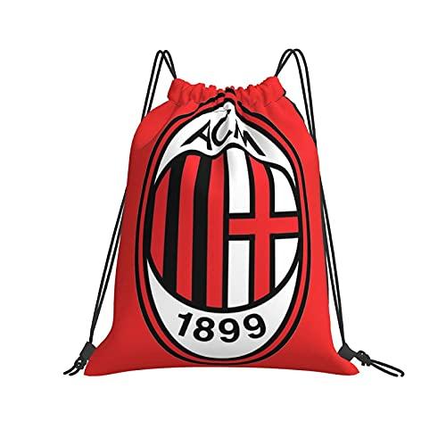 DJNGN Zaino da Palestra Impermeabile con Coulisse per Uomo Donna, Sacca da Palestra Sportiva A.C. Milan