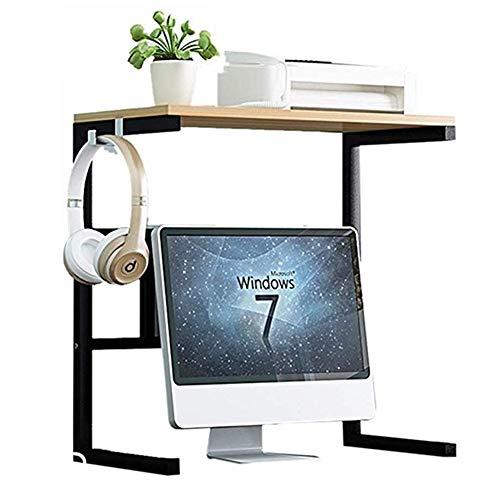Soporte de Impresora La máquina de copia de escritorio de pantalla del teclado Aumento de almacenamiento de cajas de almacenamiento oculto Oficina múltiples capas de audio Estante de impresora de esc