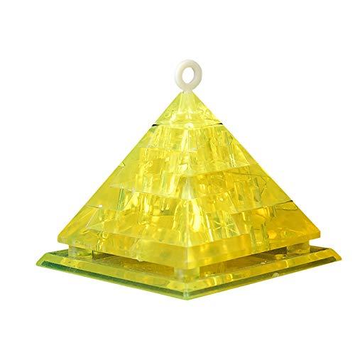 Zumint 3D Puzzle Pyramide, 44 Teile 3D Crystal Puzzle Jigsaw Mädchen Puzzles, Elegantes Minimalistisches Design, weniger ist mehr, Das Perfekte Geschenk (H Pyramide)