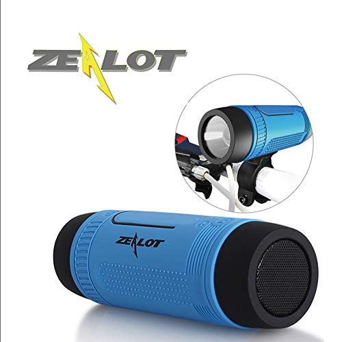 Zealot Wireless Outdoor Waterproof Bluetooth Speaker S1 Portable FM/TFCard Shockproof Dustproof Altavoces Haut Parleur SOS LED Flashlight(Blue)