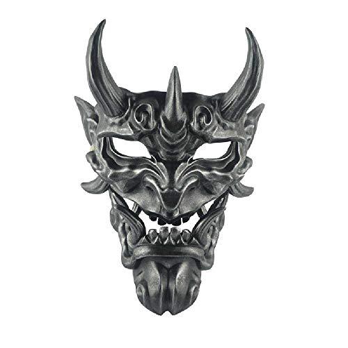 YXOPB Das Gesicht des Horrors, Die Maske des Schamanen, Die Maske des Helms, Die Harz. Durchschnitt/Silber (Kupfer)