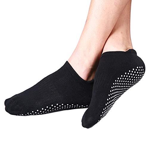 WDFVGEE Unisex Yoga Deporte Barco Calcetines de corte bajo antideslizante Grip Ballet gruesa toalla Medias para Lindo Personalidad...