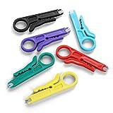 BUSHIBU Mini Wire Stripper 6 Pack Network Wire Stripper Punch Down Cutter for...
