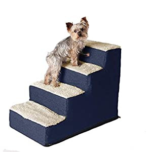 Pet Progressions Lightweight Pet Steps for Dogs & Cats Navy 4 Step