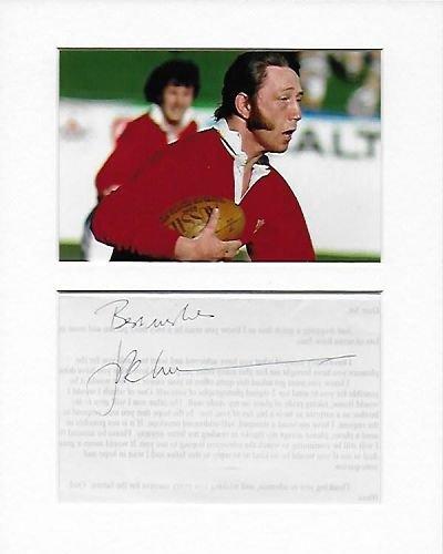 Rugby Union–Wales–J. P. R. Williams Genuine Authentic Hand Autogramm AFTAL COA
