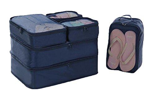 Black Temptation 6pcs Multifonctions Accueil Voyage Vêtements Stockage Cosmetic Bag Pouch