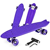 Product Image of the Beleev Skateboards for Kids Teens Adults, 22 inch Cruiser Complete Skateboard...