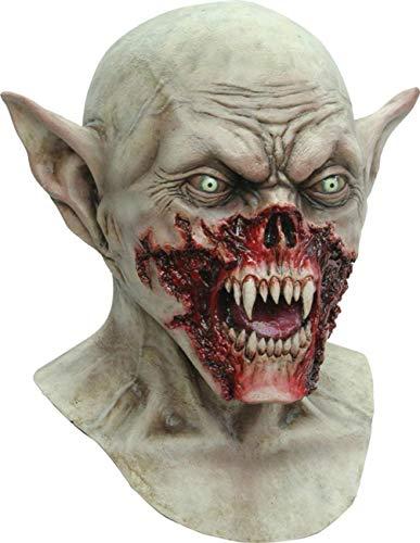 MASCARELLO Vampir Kurten Goblin Blut Vampir Dracula Latex Kopf und Hals Horror Maske
