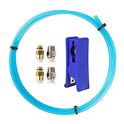 Bowden Tube, Sovol PTFE Tube 1M for 1.75mm Filament with 2PCS PC4-M6 Pneumatic Fitting Push to Connect and 2PCS PC4-M10 Straight Quick in Fitting for 3D Printer