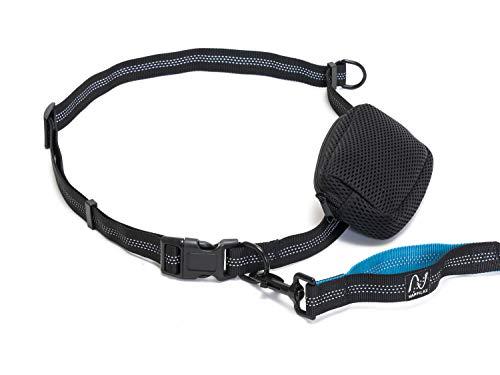 Happilax Correa Perro Correr Manos Libres, Extensible con Cintura Ajustable para Cargas hasta 100kg