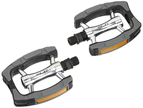 XLC City- / Comfort-Pedal PD-C07, Schwar, Grau, Silber, One Size