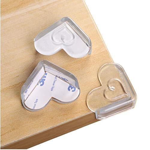 16 Stücke Kantenschutz Transparent, Herzförmig Eckenschutz und Kantenschutz für Kindersicherung, Eckenschutz für Baby Kinder Schutz