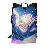 Homebe Astronaut Girl Blue Art Cute Sac à Dos,Sac d'école,Cartable Travel Hiking Small Gym Teen Little Girls Youth Boy Women Men Kids Backpack Mini Book Back Bag Bookbag