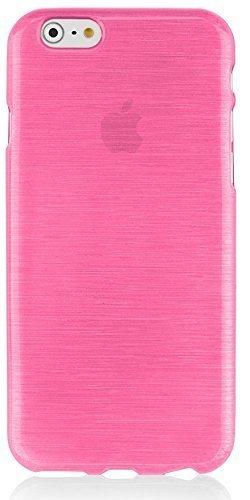 Silikon Silicon Handy Back Case Cover Schale pink für Apple iPhone 6s Handy Tasche Cover Schutz Hülle Bumper