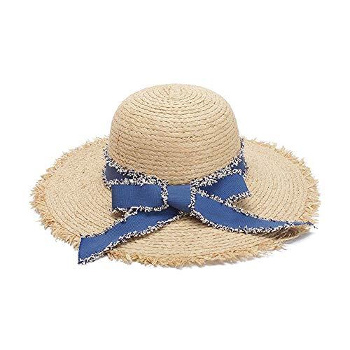Art Watermelon Dome Beach Holiday Lafite Sombrero de Paja al Aire Libre Moda Casual Panamá Cap Plegable Transpirable Cool Hat Straw (Color : Light Khaki, tamaño : 56-58CM)